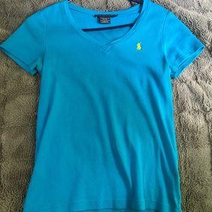 RALPH LAUREN T-SHIRT- women's v-neck t-shirt